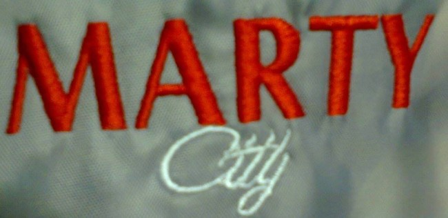 Logo brodat Marty Caffe